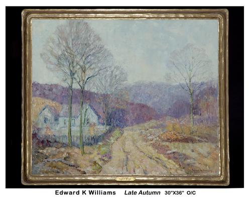 "Edward K. Williams Late Auturm 30"" x 36"""